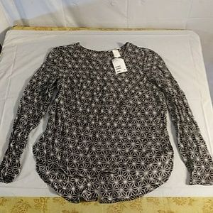 H&m womens size 6 button up back blouse